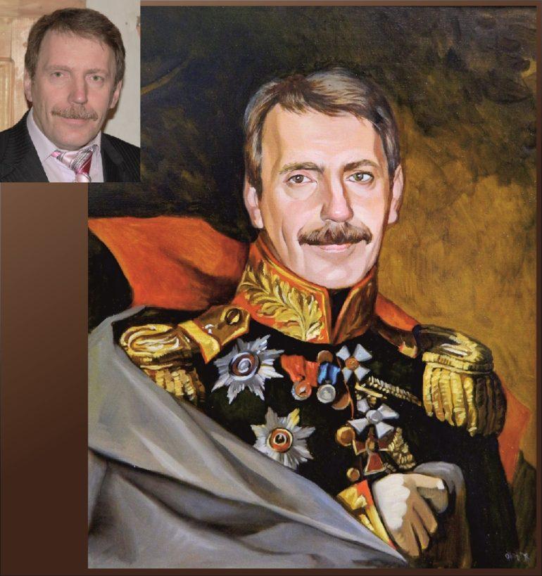 Настоящий портрет маслом на заказ в Калуге…