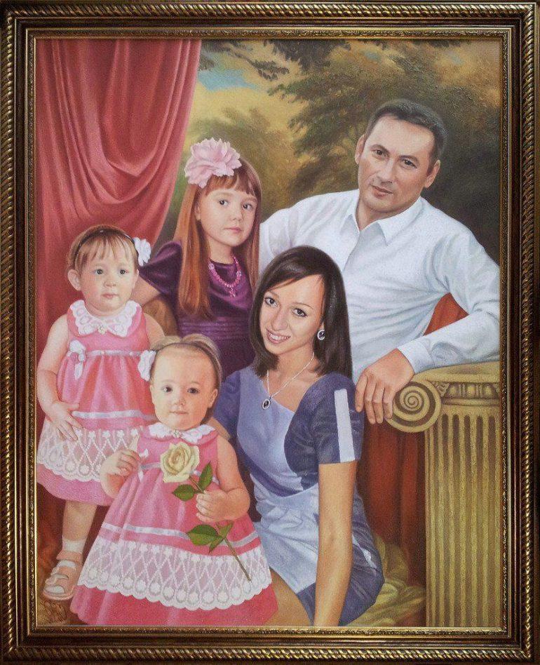 Семейный портрет маслом в Калуге — правильная традиция…