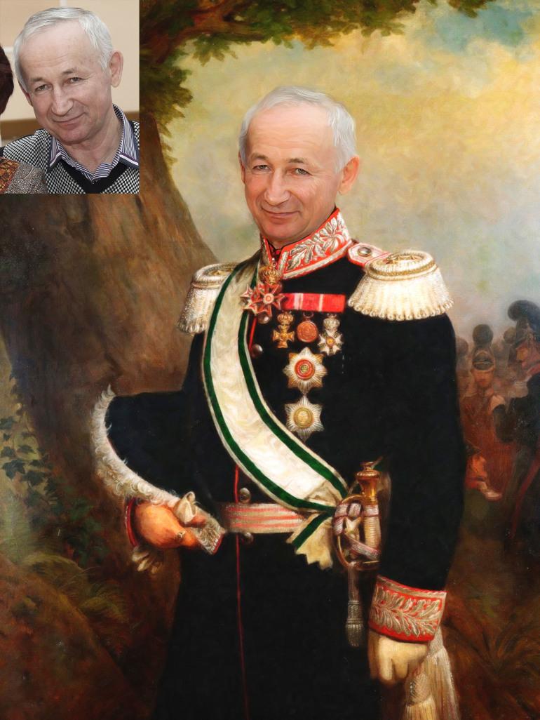 Где заказать исторический портрет по фото на холсте в Калуге?