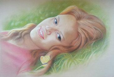Настоящий портрет пастелью для любимой девушки в Калуге, просто и со вкусом!