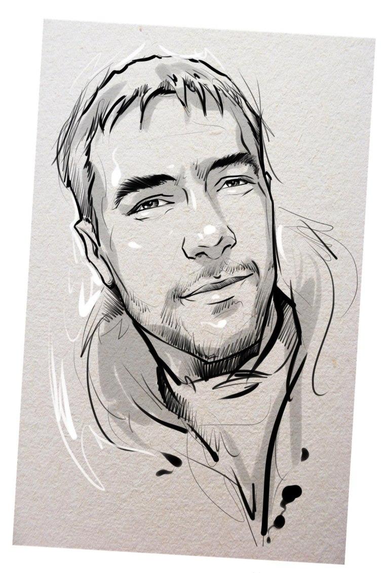 Портрет карандашом любимому мужу в Калуге…