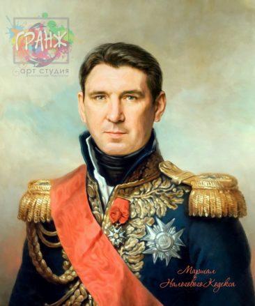 Портрет по фото на холсте в подарок мужчине на 23 февраля Калуга
