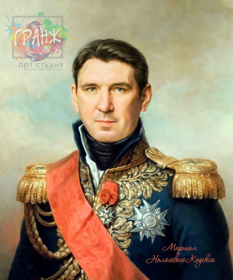 Портрет по фото на холсте в подарок мужчине Калуга