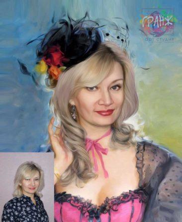 Заказать арт портрет по фото на холсте в Калуге